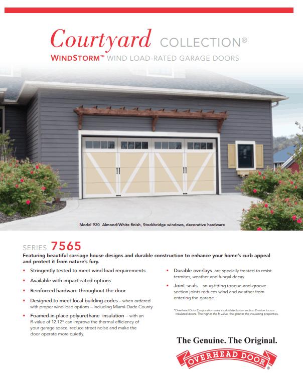 , Courtyard Wind Load Garage Doors, Overhead Door Company of Battle Creek & Jackson