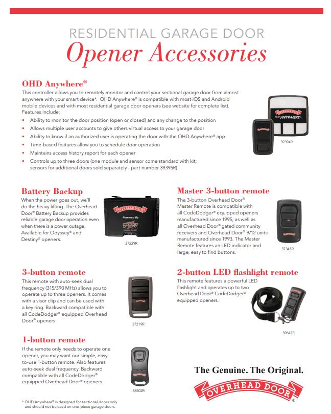 Garage Door Remotes And Accessories Overhead Door