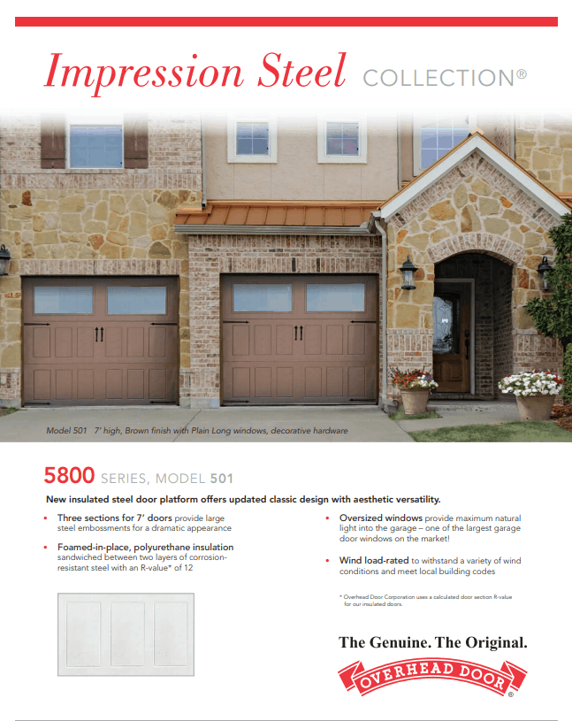 , Impression Steel Garage Doors, Overhead Door Company of Battle Creek & Jackson, Overhead Door Company of Battle Creek & Jackson
