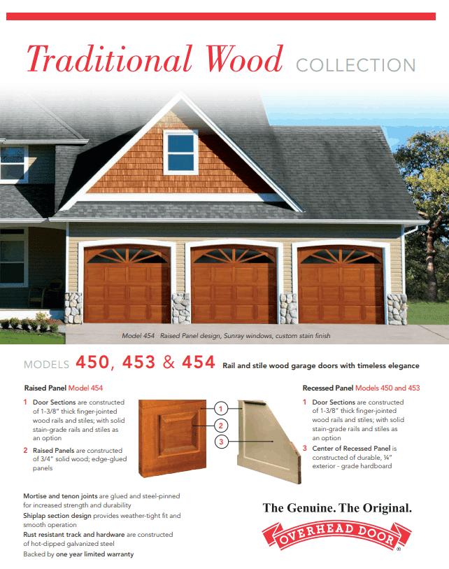 , Traditional Wood Collection Garage Doors, Overhead Door Company of Battle Creek & Jackson, Overhead Door Company of Battle Creek & Jackson